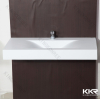 Artificial stone white matte wall hang basin