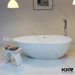 Kingkonree white matte stone resin bathtub