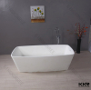 Popular sale acrylic solid surface free standing white bathtub