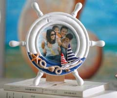 ocean style / circular/ cute photo frame