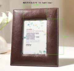 pu/leather / oblong / classical photo frame
