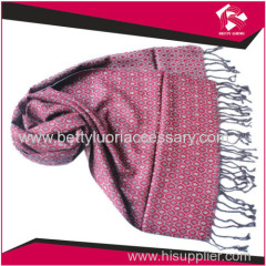 LADIES WOVEN SCARF WITH FRINGE