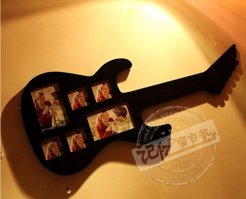 wood creative guitar / villager photo frame