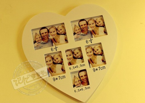 heart-shaped / villager / wood photo frame