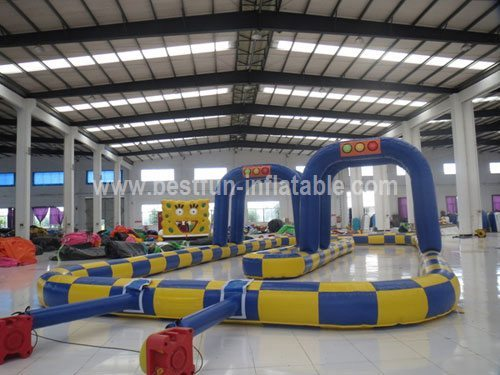 Giant tricycles inflatable track for sale