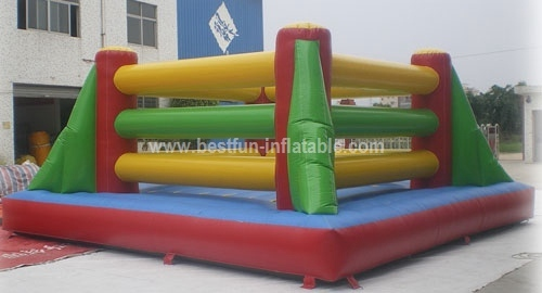 Inflatable boxing ring gloves fighting