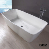 White Artificial Stone Acrylic Solid Surface Freestanding Bathtub