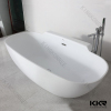 Pure White Resin Stone Shower Tub / Acrylic Solid Surface Bathtub