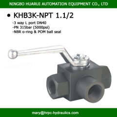 1 1/2 inch dn40mm 3 way NPT female thread L port high pressure wog 5800psi hydac standard hydraulic valves manufacturer