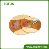 2 pcs round bamboo cutting board set