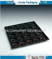 Plastic blister packaging tray