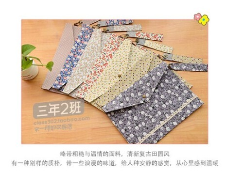 cloth / flower / A4 file collect / file folder