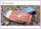 USB 2.0 Leather Memory Sticks USB Flash Drive U Disk 4GB / 8GB / 16GB