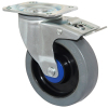 5 inches ball bearing elastic rubber casters