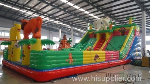 large cartoon inflatable bouncer for kids