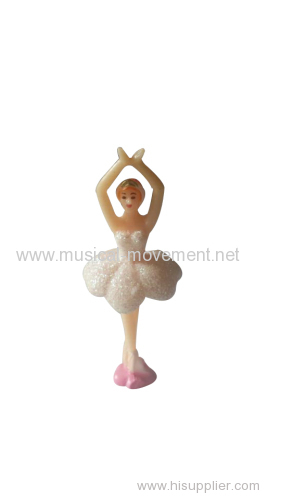 BALLERINA WHITE SHINY SKIRT FOR JEWELRY MUSIC BOX