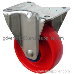 Red PP fixed industrial casters