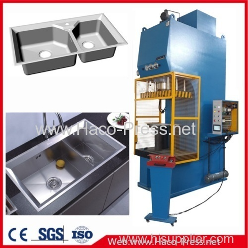 300tons CNC C-Frame Hydraulic Press Autoparts Controller Curve Show 300T C Frame Hydraulic Punch Press