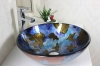 tempered glass vessel sink