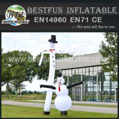 Customized inflatable snowman air dancer