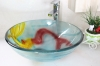 glass basin with pop-up glass basin with siphone