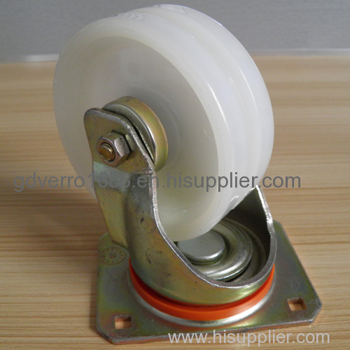 Nylon V groove wheel swivel casters