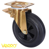High-quality rubber wheel casters with plastic core