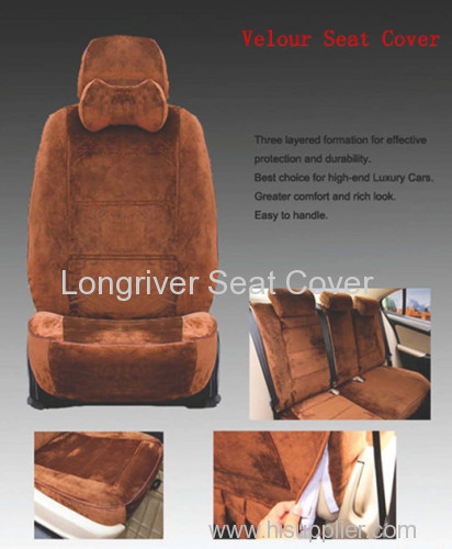 Velour Seat Cover Set