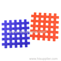 Square Knitted check design Silicone mat silicone tray