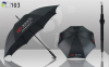 Straight Promotional Umbrellas Auto-open Pongee Fabric Durable Super Budget Classical Design