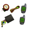 safeguard two-way motorcycle alarm with 2pcs LCD screen remotes