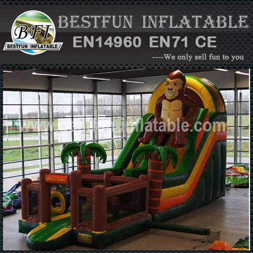 Exciting inflatable Monkey slide for sale