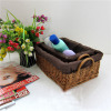 Wicker laundry basket for dirty clothes from manufacture