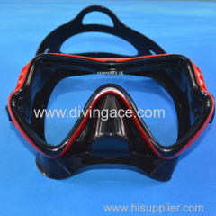 Silicone rubber scuba diving mask