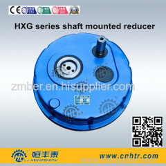 TA helical hollow shaft mounted speed reducer gearbox geared motor