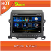 Toyota Alphard car dvd player bluetooth ipod radio TV USB 3G Wifi canbus 9inch touchscreen