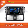 Toyota 2014 Vios car dvd player bluetooth ipod radio TV USB 3G Wifi canbus touchscreen streeing wheel control