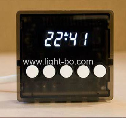 Custom super green7 segment led display for oven timer control