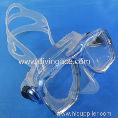 Fashionable design rubber diving hurting mask