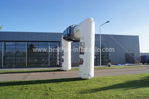 Inflatable archway for advertising