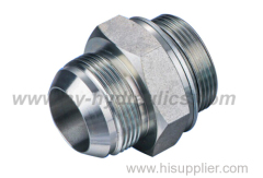 1SG JIS Metric male 60 degree cone/BSP male O ring adapter