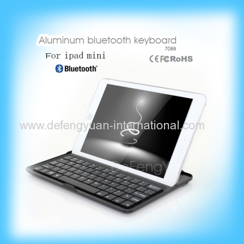 Black and Silver Colors Aluminum Material Mobile Bluetooth Keyboard For Ipad Mini