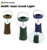 6 led solar camping light with hand crank dynamo