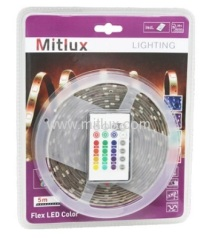 LED Strip Light Set Flexible Ribbon RGB Color, SMD5050