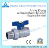 high quality nickel plated brass ball valve form china