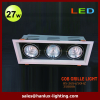 27W 1620lm LED grille light