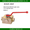 HYDAC standard KH3-10LR 3 or 4-way ball valve