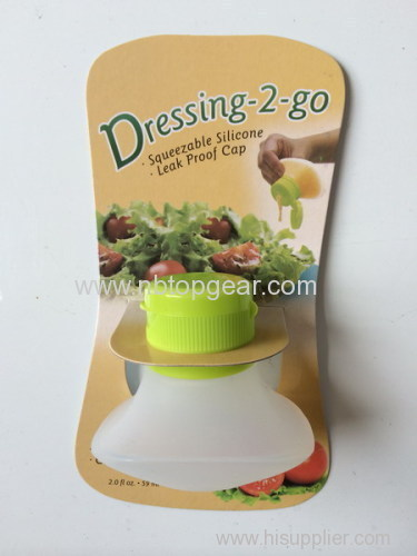 Leakproof Portable salad Squeezable Silicone Travel Bottle