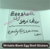 High quality egg shell sticker,high quality adhesive paper sticker