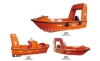 Marine Total Enclosed Free Fall Open Lifeboat FRP Lifeboat fast rescue boats